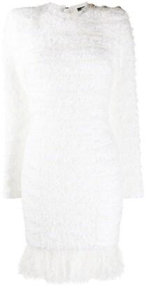 Balmain Fringed Knit Dress