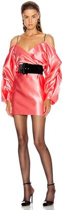 Rasario Cold Shoulder Mini Dress in Pink   FWRD