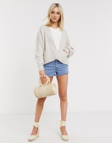 Asos Design DESIGN short boxy edge to edge cardigan with pockets