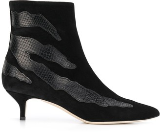 Gia Couture Snakeskin Effect Detail Boots