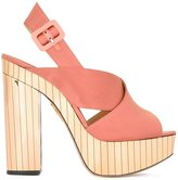 Charlotte Olympia 'Electra' sandals - women - Leather/Satin - 37