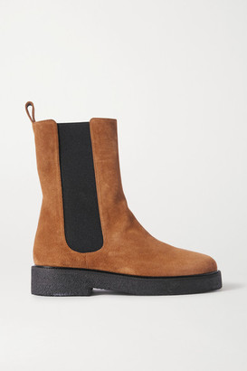 STAUD Palamino Suede Chelsea Boots - Tan