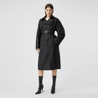 Burberry ECONYL Trench Coat with Detachable Leather Jacket