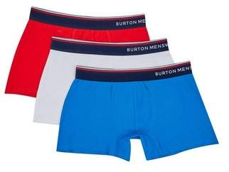 Mens 3 Pack Multi Coloured Sports Tipped Trunks