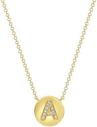 Ron Hami 14K Yellow Gold Diamond Initial Pendant Necklace - 0.04 ctw