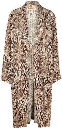 Free People Wild Nights snake-print jacket