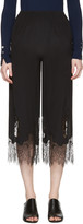 McQ by Alexander McQueen Black Fluid Lace Trousers