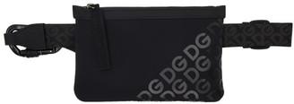 Dolce & Gabbana Black Neoprene Logomania Waist Bag