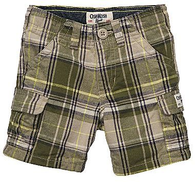 Osh Kosh Plaid Cargo Shorts - Boys 2t-5t