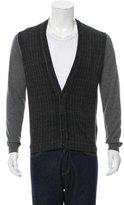 Prada Virgin Wool Patterned Cardigan