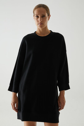 Cos Organic Cotton Oversized Sweatshirt Dress