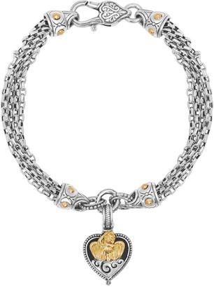 Konstantino Angelic Ethereal Two-Tone Heart Charm Chain Bracelet