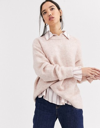 Only Zoe long sleeve jumper-Pink