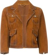 DSQUARED2 cropped suede jacket - women - Calf Leather - 42