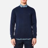 Tommy Hilfiger Men's Plaited Cotton Silk Crew Neck Knitted Jumper