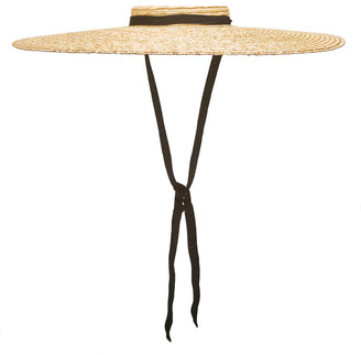 Jacquemus Le Chapeau Santon Grosgrain-Trimmed Straw Hat