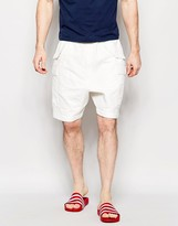 Asos Slim Shorts With Cargo Styling In White