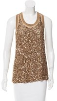 Stella McCartney Sequined Racerback Top