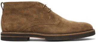 Tod's Polacco Suede Desert Boots - Brown