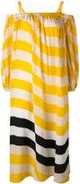 Fendi horizontal stripe dress - women - Silk - 40