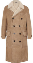 Tom Ford Double-breasted Shearling Coat - Sand