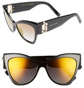 Marc Jacobs Women's 54Mm Oversized Sunglasses - Black