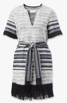 Derek Lam Fringe Tie Striped Dress