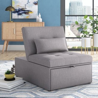 Grove Lane Aaronsburg Convertible Chair Grovelane Fabric: Gray Polyester