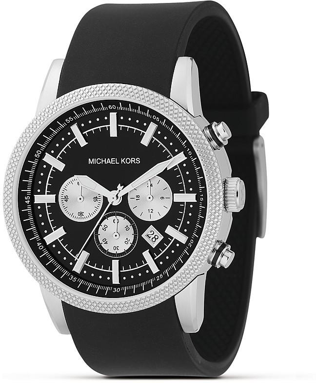 Michael Kors Black Stainless Steel Chronograph Watch, 45 mm