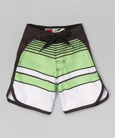 Micros Green Avalon Boardshorts - Toddler & Boys