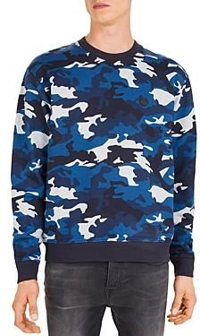 The Kooples Camouflage Fleece Crewneck Sweatshirt