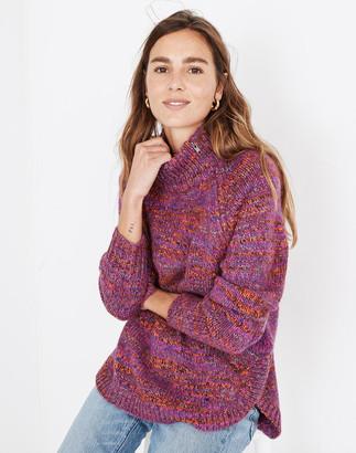 Madewell Multicolored Zip-Turtleneck Sweater