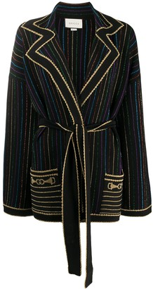 Gucci Metallic Stripe Cardi-Coat