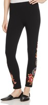 Johnny Was Malui Floral Embroidered Leggings