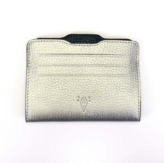 Atelier Hiva Double Card Holder Silver & Metallic Navy Blue