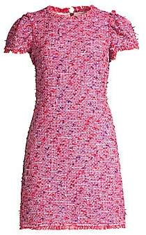 Kate Spade Women's Puff Sleeve Tweed Sheath Dress