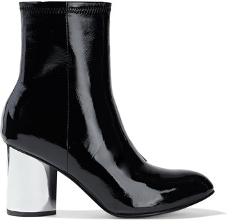 Opening Ceremony Dylan Crinkled Patent-leather Sock Boots