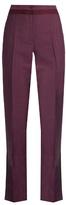 Bottega Veneta High-waisted straight-leg wool-blend trousers