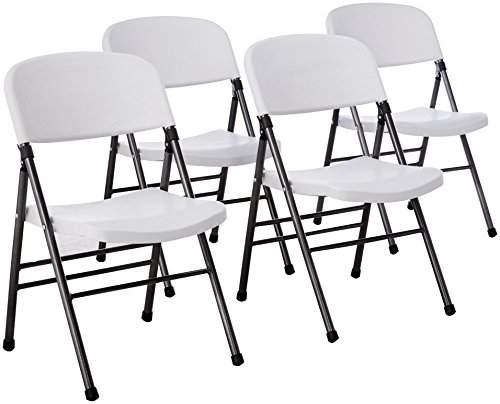 Excellent Cosco Vinyl 4 Pack Folding Chair Home Black Machost Co Dining Chair Design Ideas Machostcouk