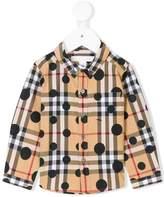 Burberry plaid button-down shirt