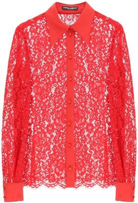 Dolce & Gabbana cordonetto lace shirt