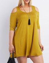 Charlotte Russe Plus Size Cold Shoulder Shift Dress