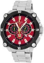Roberto Bianci Men's 7101m_red Pro Racing Analog Display Analog Quartz Silver Watch