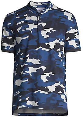 The Kooples Men's Camo Polo Cotton Top