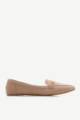 Ardene Faux Suede Pointy Loafers - Shoes |