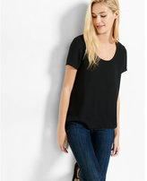 Express Step Hem Scoop Neck Tee