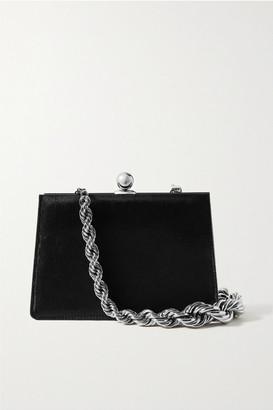 Ratio et Motus Mini Twin Calf Hair Shoulder Bag - Black