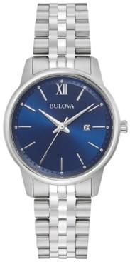 Bulova Women's Classic Stainless Steel Bracelet Watch 32mm