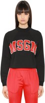 MSGM Print Cotton Jersey Sweatshirt
