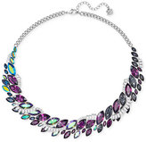 Swarovski Silver-Tone Rainbow Crystal Collar Necklace